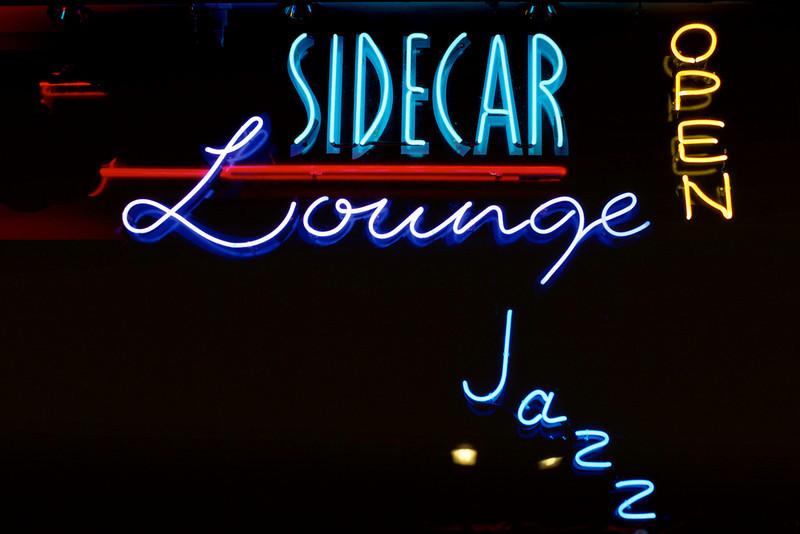 Sidecar Lounge. Neon sign, Durango Colorado.