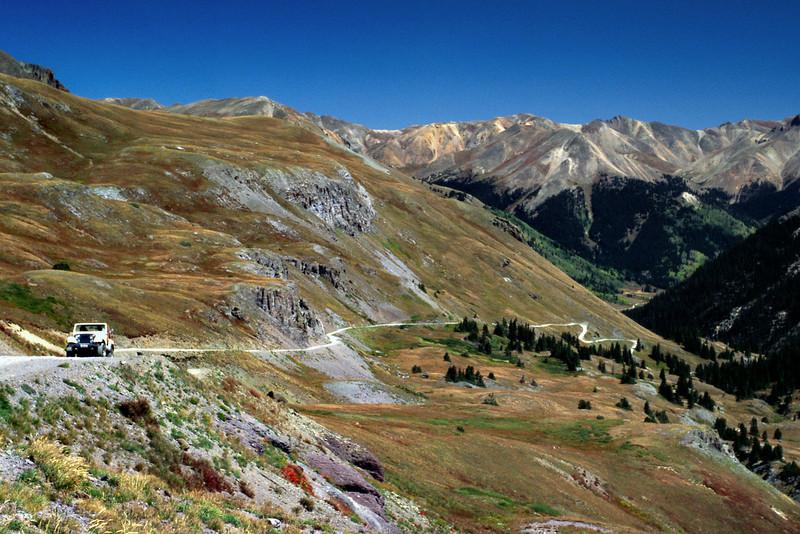 Alpine Loop Jeep trail NE of Silverton, Colorado.