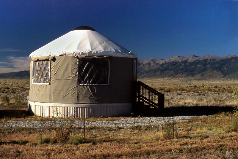 Yurt at Joyful Journey Spa, Colorado.