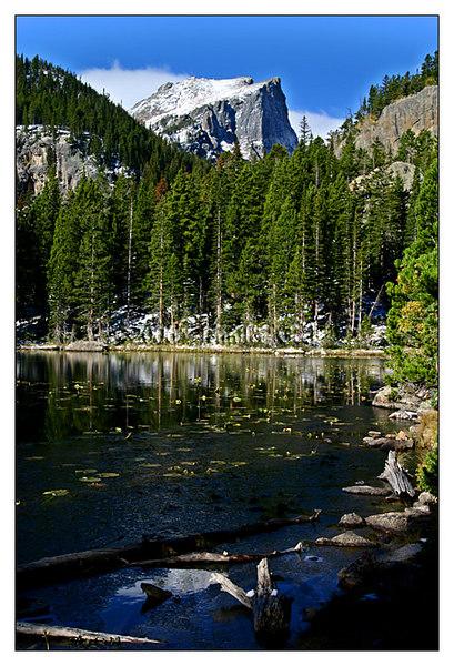 Hallett's Peak from Nymph Lake