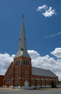Church and Sky. Leadville, Colorado