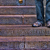 My son standing on the steps of the State Capitol in Denver, Colorado