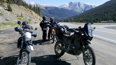Getting ready to head up Loveland Pass which had a lot of ice in the shaded spots.