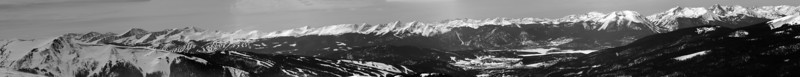 Panoramic view from A-Basin