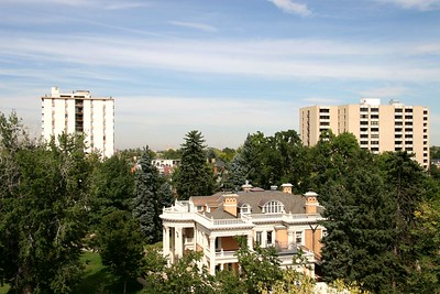 View from Andrew's Apartment. Governors Mansion.