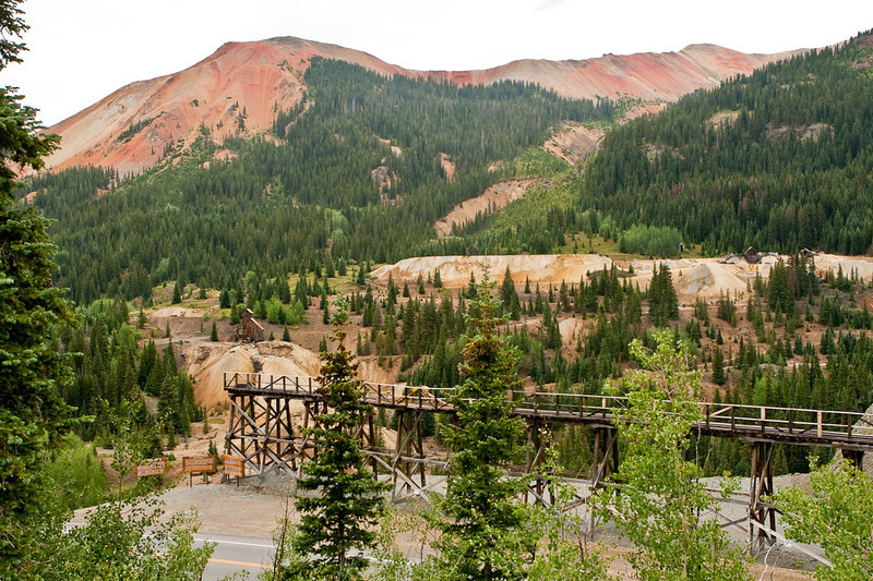 "Another reclamation project. Idarado Mine near the top of Red Mountain Pass (elev. 11,018') on the ""Million Dollar Highway"" between Ouray and  Silverton."