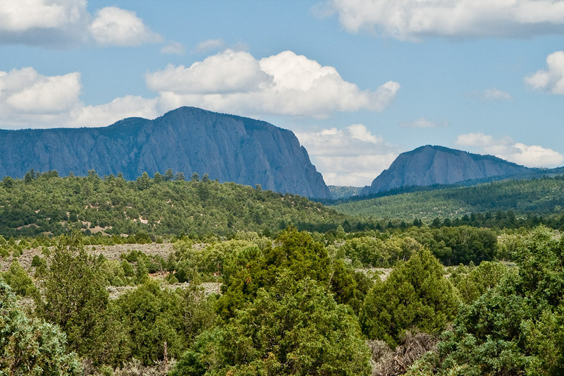 South of Chama, near Tierra Amarillo, New Mexico, the Brazos Cliffs mark the western edge of the Tulsa Mountains, where the Rocky's extend into New Mexico. 10,000' elevation, 2,000' vertical drop.