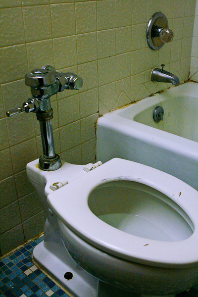 When is the last time you saw a toilet like this in your motel room? It was a first for me. Royal Inn, Abilene Texas.