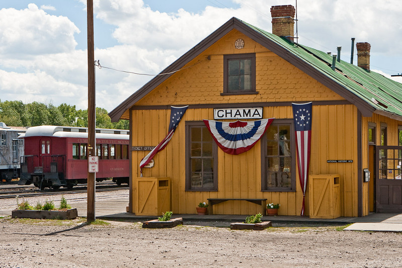 Chama railroad depot, 7,863' elevation