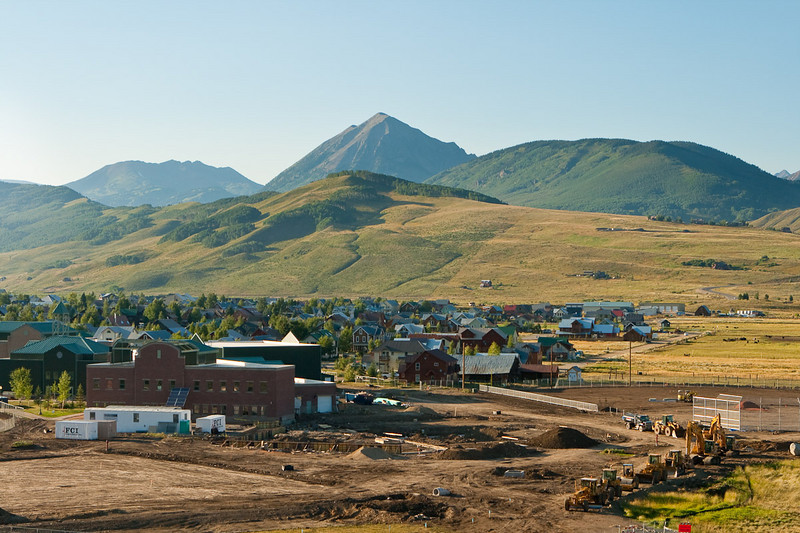 My absolutely very first view of Crested Butte, Colorado.