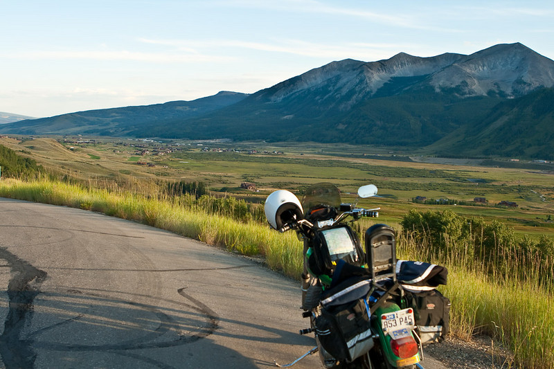 My last evening in Crested Butte, I was saying farewell to a beautiful place. I rode my bike up to a street called Overlook in the resort area.