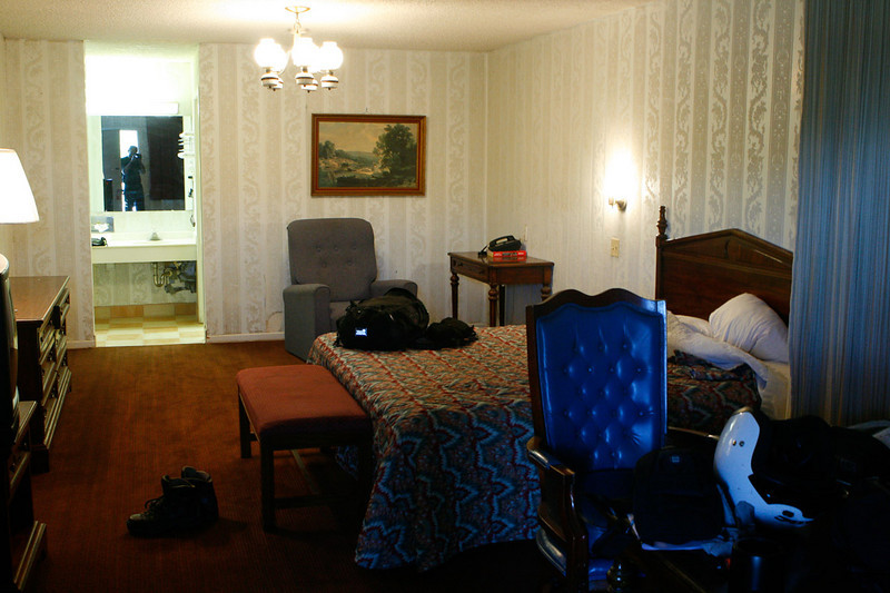 Departing shot of my room at the Royal Inn in Abilene.