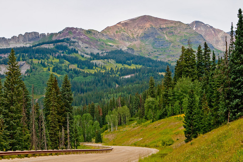 """Leaving Crested Butte via the Kebler Pass Road. I was pleasantly surprised by the beauty of this road. Although it is technically a """"dirt road"""", it was very easy."""