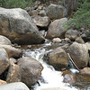 Close-up of rocks and water