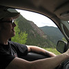 Craig loves driving in the mountains.