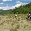 Riding on the Colorado Trail from Kenosha Pass to Breckenridge