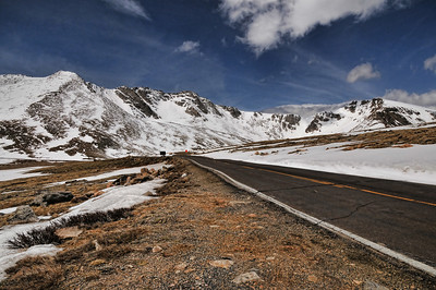 On the way to Mt. Evans. The Road to Evans is highest in the US at over 14,000 feet! Great scenery. Windchill above 12,000 was about 5 degrees.