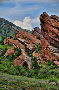 """These are the famous """"red rocks"""" that form the open air music venue outside of denver. Great colors."""