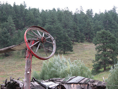 An odd Gate at a destroyed homestead in Colorado.