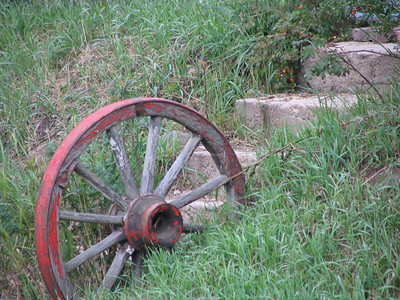Ginger Photo: of a simple wagon wheel