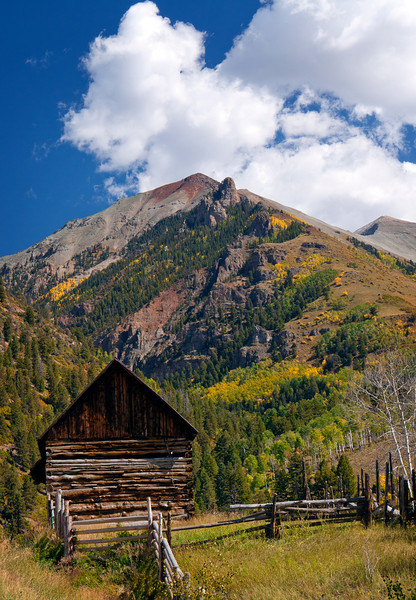 Old barn on the trail Colorado