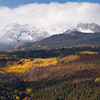 Snow covered mountains with Aspens, Colorado