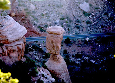 Balanced Rock from Above