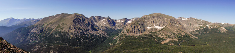 Panorama, from Trail Ridge Road, Rocky Mountain National Park