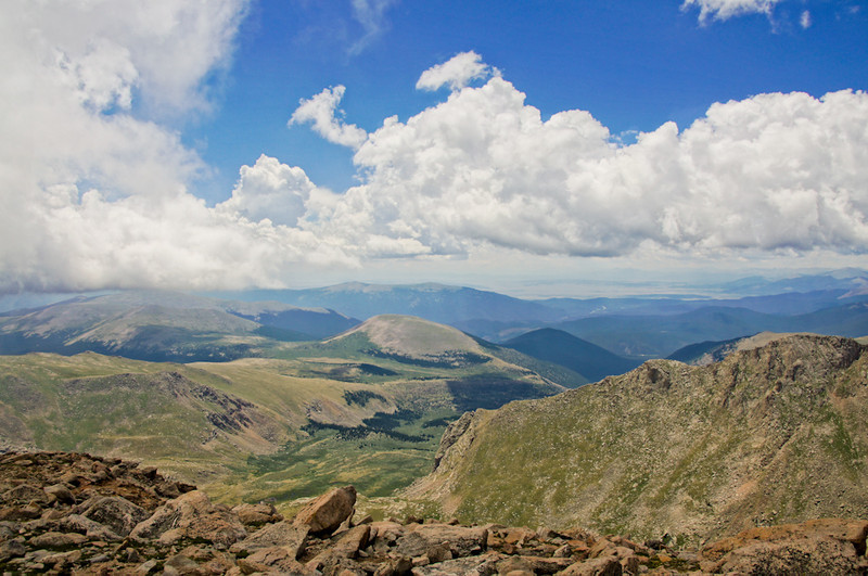 View from Mt. Evans Road, highest paved road in North America