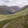 Trail  at 12,000 feet elevation from American Basin returning to the Alpine Loop Road, CO.<br /> July 21, 2013