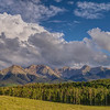 """Driving the """"Last Dollar Road"""" (Rt.58-P) with vistas of the Sneffels Range and groves of aspen.<br /> (between Telluride and Ridgway, CO)<br /> July 24, 2013"""