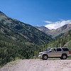 Our Tahoe 300 feet above the Gunnison River southwest of Lake City, CO. along the Alpine Loop.