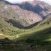 Vista of American Basin back toward the Alpine Loop road.