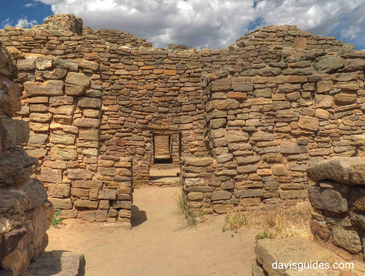 Centuries old structures at Aztec Ruins National Monument, Arizona