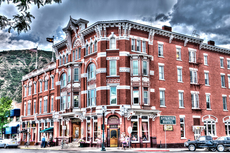 Historic Strater Hotel in Durango provided lodging, food, beverages and entertainment.  The Diamond Belle Saloon with a honky-tong piano and dance hall girls is a fun place.