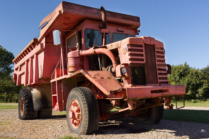 Ore truck on display at the Big Brutus Mining museum, West Mineral, Kansas.
