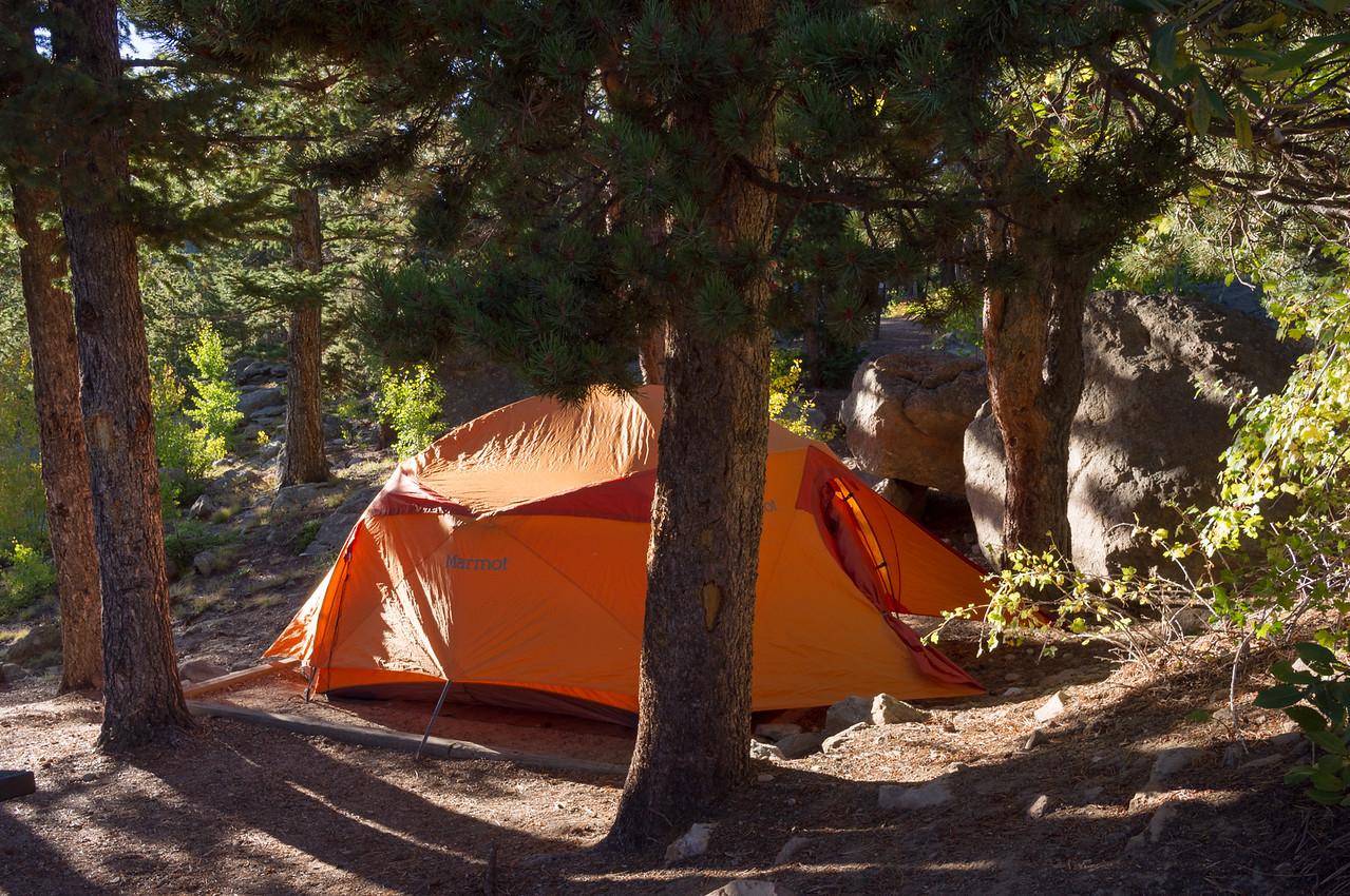 Camp in Golden Gate Canyon State Park, near Golden, Colorado.