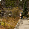 Rita on the trail, Sprague Lake, Rocky Mountain National Park, Colorado