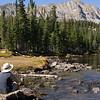 Rita admiring the view at Mitchell Lake Colorado