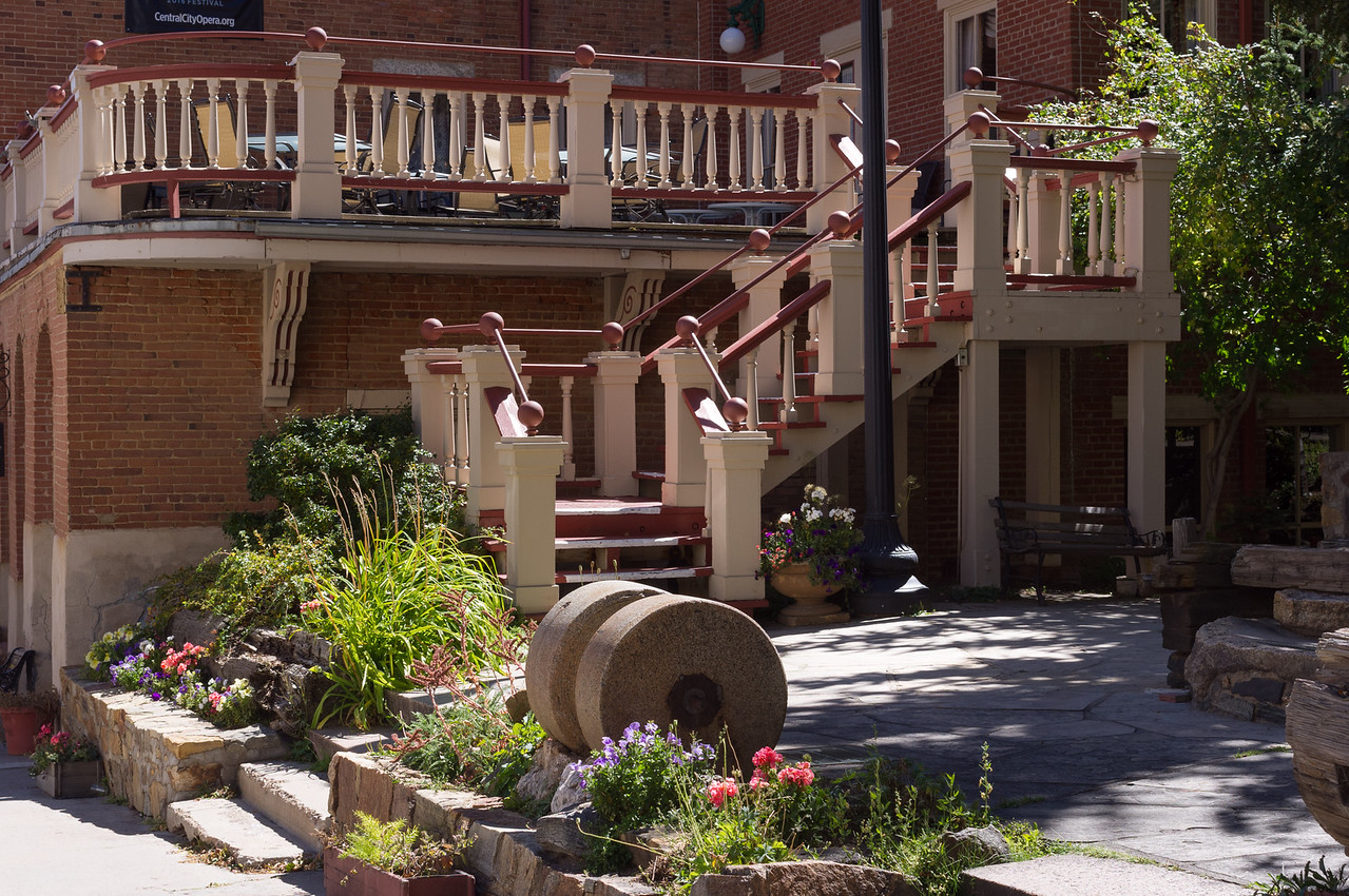 Courtyard of a shop in Central City, Colorado.