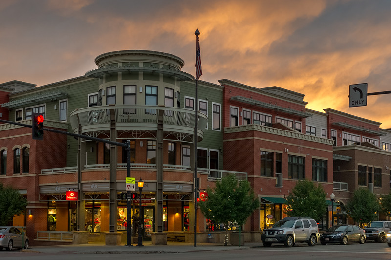 Weather above the shops, Steamboat Springs, Colorado. HDR merge with Lightroom.