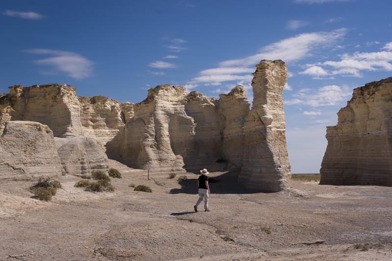 Monument Rocks (aka Chalk Pyramids); Gove County, Kansas.