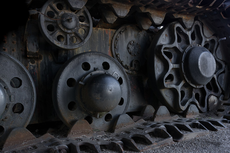 Detail view of the track mechanism, Big Brutus, West Mineral, Kansas.