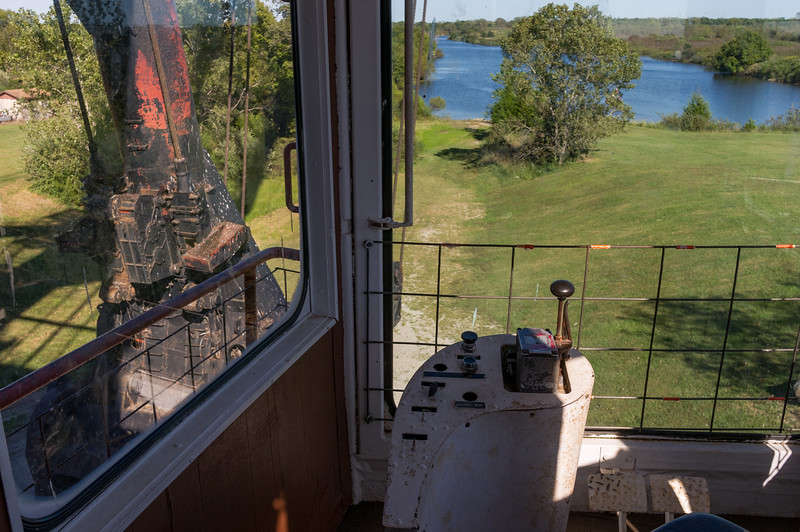 View from the driver's seat of Big Brutus, the world's largest electric shovel, West Mineral, Kansas.