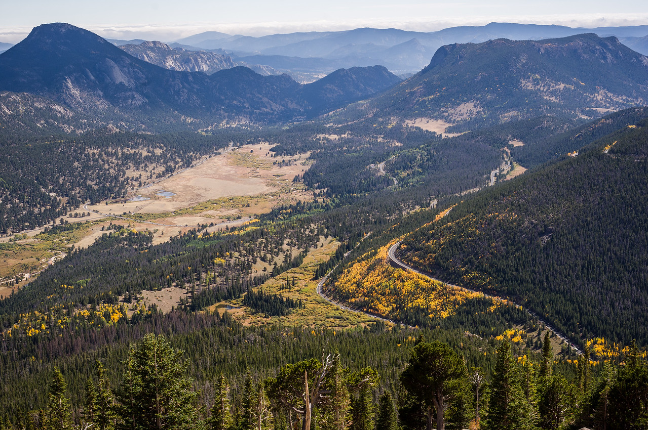 Looking down on the switchbacks, Trail Ridge Road. Rocky Mountain National Park, Colorado.