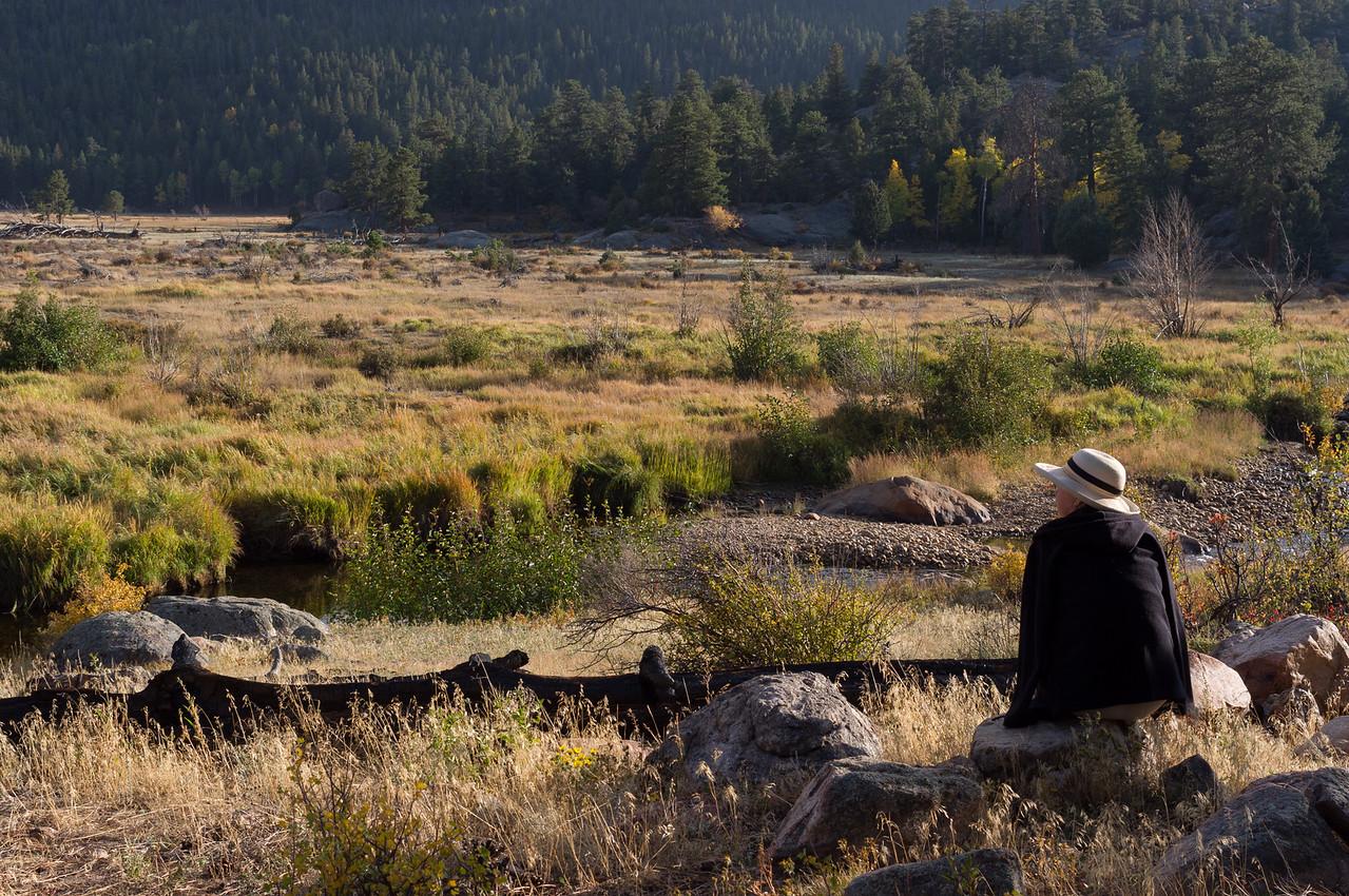 Rita, near the Moraine Campground, Rocky Mountain National Park, Colorado.