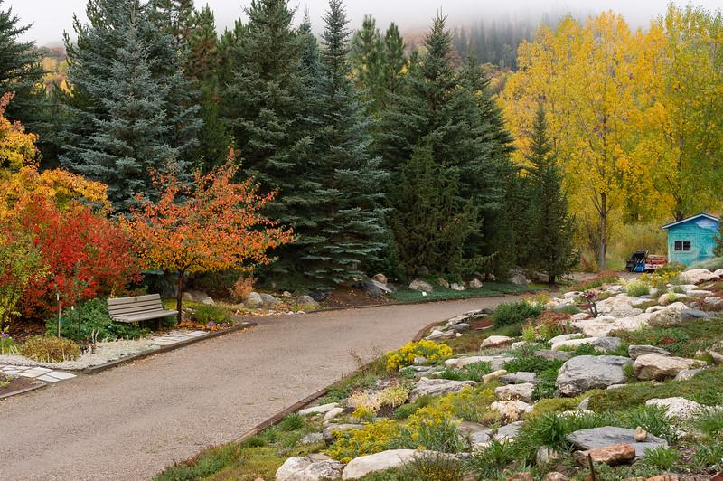 Gardens at the Yampa River Botanic Park, Steamboat Springs, Colorado.