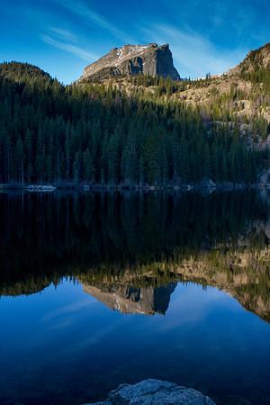 Bear lake 6:35 am, Rocky Mountain National Park