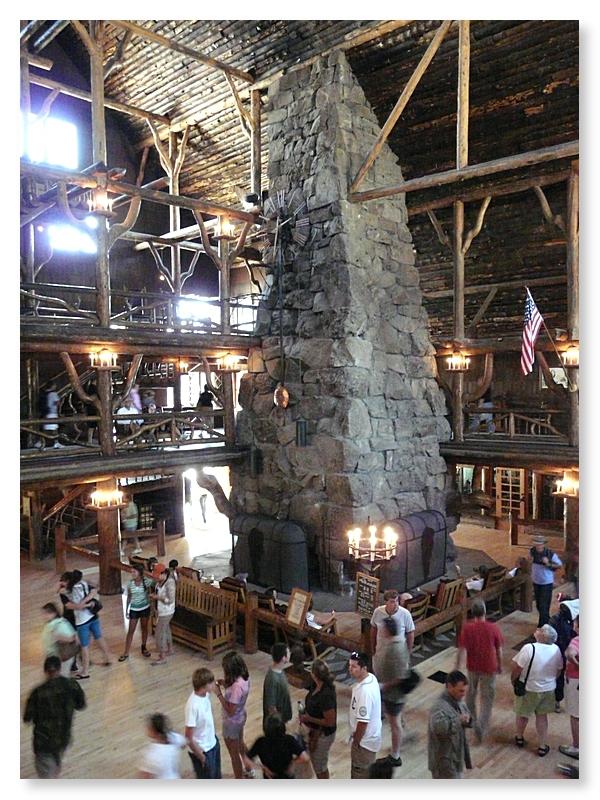 85 foot Fireplace in Lobby at Old Faithful Inn (101347853)