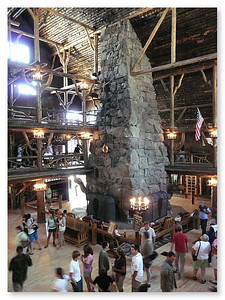 85 foot Fireplace in Lobby at Old Faithful Inn (101347853)